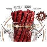 Keto Sugar Free Grass-Fed Beef Snacks Sticks Non-GMO Gluten Free MSG Free Nitrate Nitrite Free Paleo Healthy Natural Meat Sticks