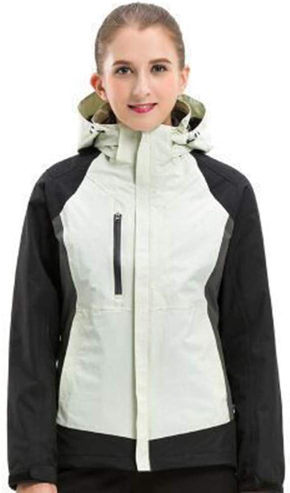 Medium Yinglihua Skijacke Damen Skijacke wasserdichte Jacke Rutscht for Alle Wetterbedingungen Auf Der Piste Ideal zum Wandern Camping Spaziergänge (Farbe   Weiß, Größe   S)