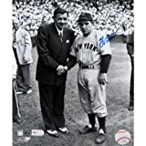 MLB New York Yankees Yogi Berra Signed with Babe Ruth Photograph, 11x14-Inch