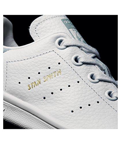 adidas Stan Smith C, Zapatillas de Deporte Unisex Niños Blanco (Ftwbla / Ftwbla / Vertac)
