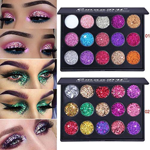 Bifast 15 Shades Eyeshadow Palette Shiny and Pigmented Mineral Pressed Powder Glitter Eyes Long Stay On Make Up Eye Shadow Shimmer Palettes (Style (Eye Shadow Mineral Powder)