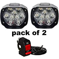 Typhon 9 LED Bar Light Universal Bike And Car Fog Light, Work Lamp for Off Roading – FREE ON/OFF SWITCH - Set Of 2 (15 W)