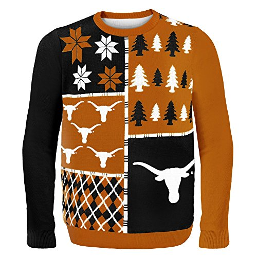 Klew NCAA Busy Block Sweater, Large, Texas ()