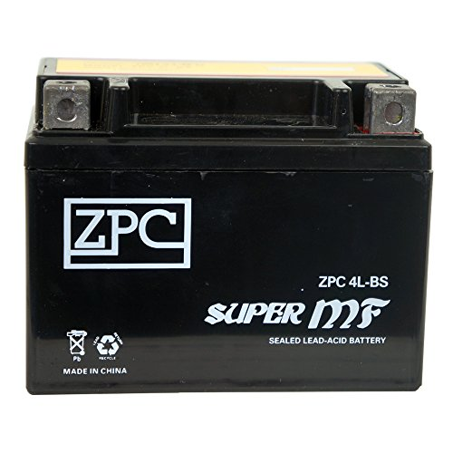 YTX4L-BS ZPC High Performance - Maintenance Free - Sealed AGM Motorcycle Battery