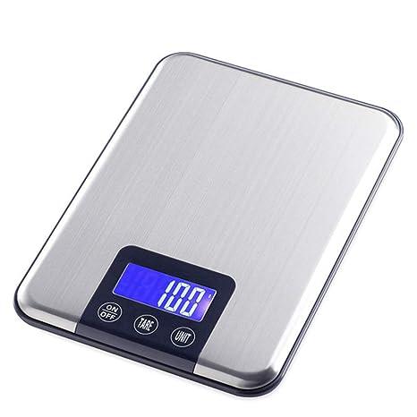 Báscula de cocina digital, acero inoxidable LCD Precisión de anuncios 15KG/1G