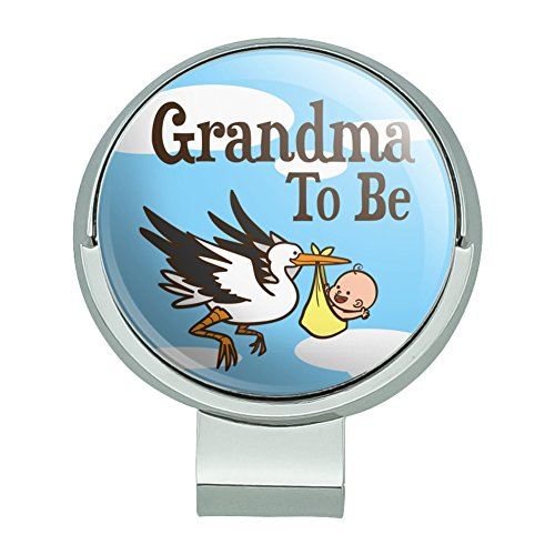 GRAPHICS & MORE Grandma to Be Stork Baby Grandmother Golf Hat Clip with Magnetic Ball Marker
