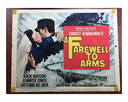 (A FAREWELL TO ARMS (1950) 2 different original lobby cards (measures 11