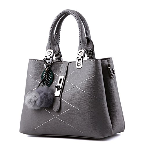 Handbag Bow Leather body Grey For Ladies Women Handle Cross with Designer 1 The Vintage Bag Handbags Best xqP0wCIR