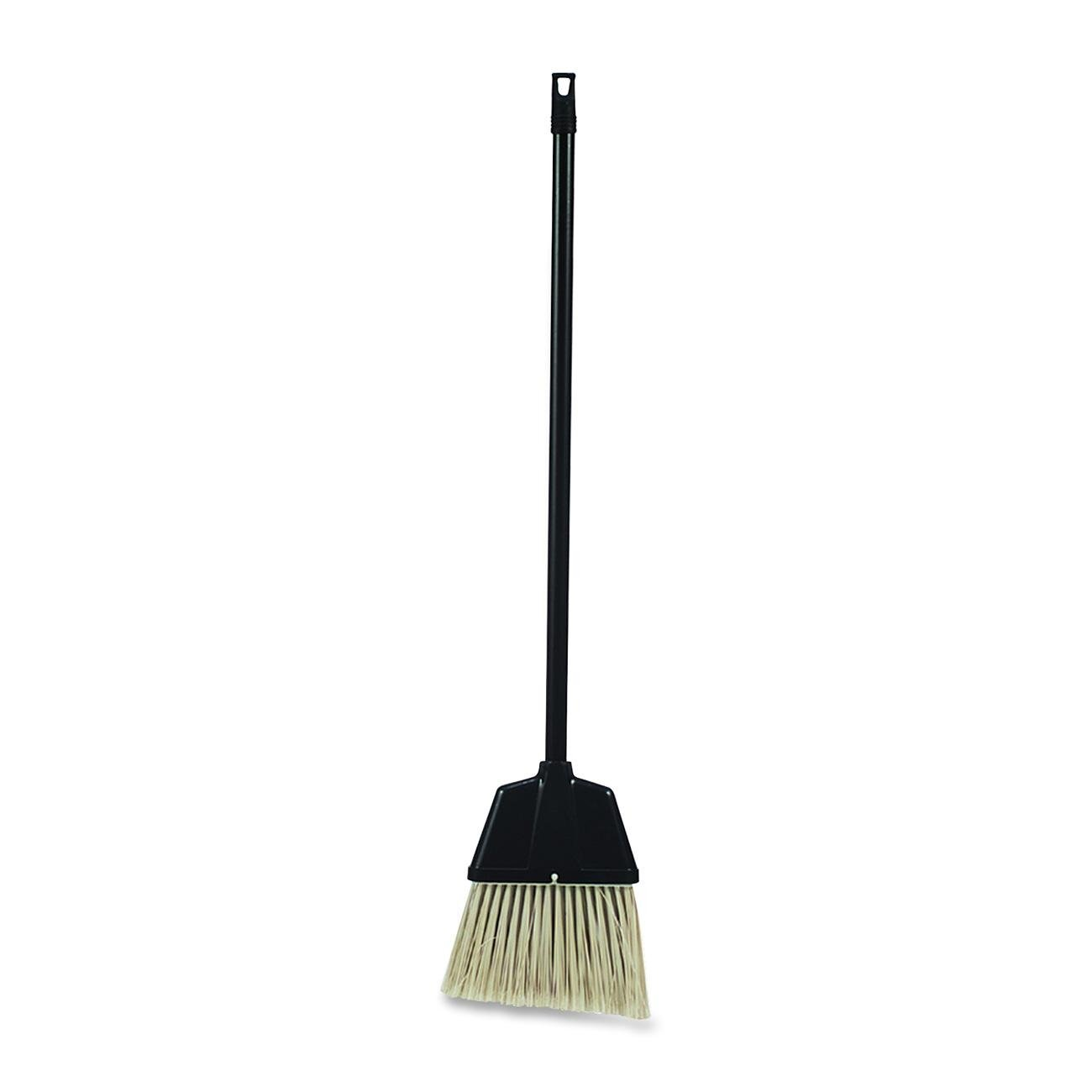 Genuine Joe GJO02408 Lobby Dust Pan Manual Broom with Handle, 32'' Handle Length