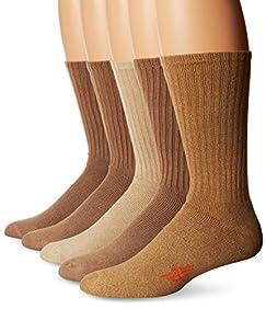 Dockers Men's Docker's 5 Pack Cushion Comfort Sport Crew Socks