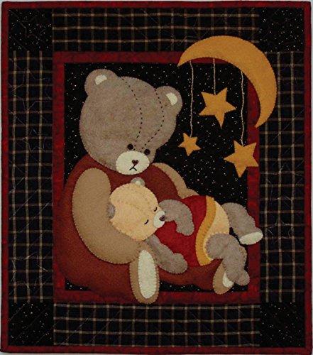Rachel's Of Greenfield Baby Bear Wall Quilt - 100% Wool Felt Stars