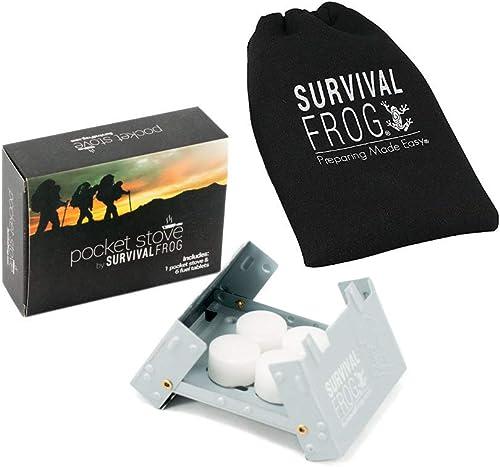 Pocket Stove Folding Emergency Camping Stove Drawstring Storage Bag