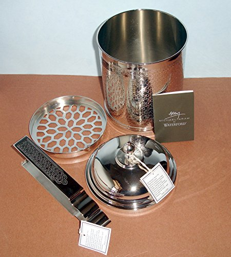 Michael Aram Jaipur by Waterford Lidded Ice Bucket with Tongs New In Box