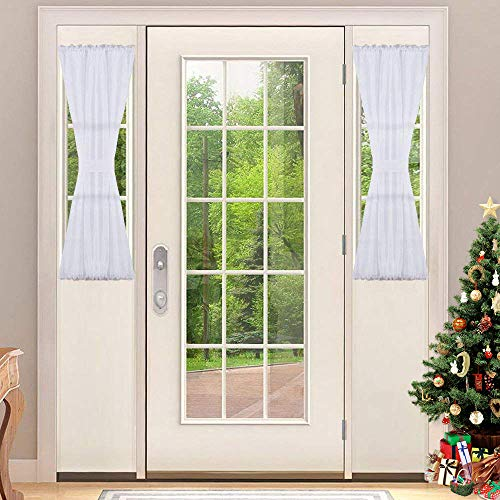 Sheer Set Bare (NICETOWN Sidelight Panel Curtains for French Door, Side Light Front Door Curtain with Tieback, 30