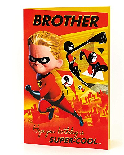 Carlton 604640-0-1 Disney The Incredibles Brother Birthday Card