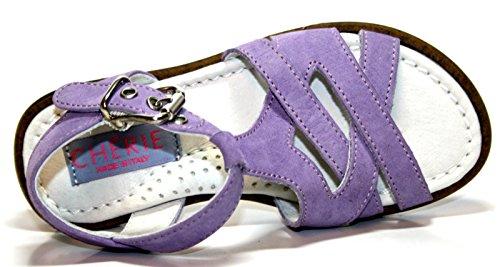 Cherie pour chaussures, 603, sandales pour fille-violet/mauve-uE - 25 (sans emballage)