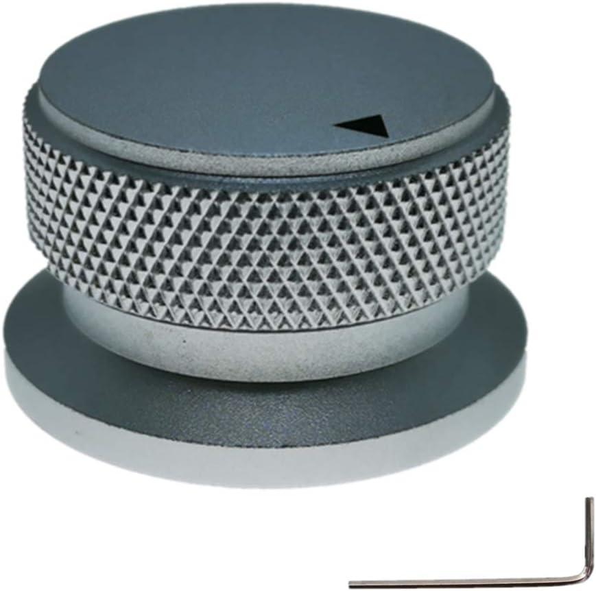 DIKAVS Aluminium Alloy Potentiometer Knob Oven Electric Appliance Audio Amplifier Adjusting Knob 34 x 20mm