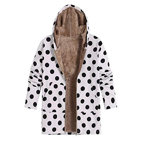 Knitting Pattern Cropped Cardigan - Toimoth Womens Winter Warm Floral Print Hooded Pockets Zipper Coats Ladies Vintage Fleece Coats Outwear Oversize(WhiteA,XXXXL)