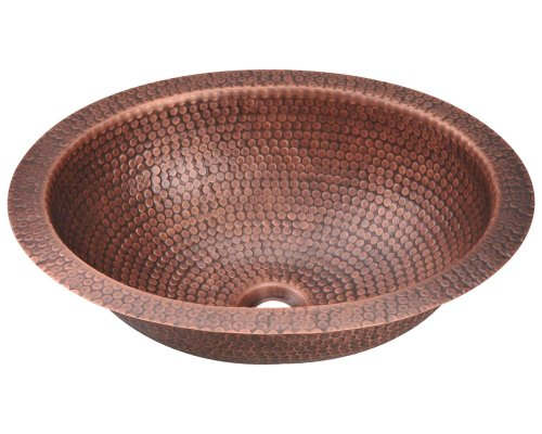 Hammered Copper Bathroom Sink - 7