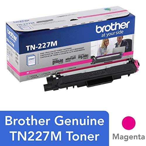 Print Smart 2300 (Brother Genuine TN227M, High Yield Toner Cartridge, Replacement Magenta Toner, Page Yield Up to 2,300 Pages, TN227, Amazon Dash Replenishment Cartridge)