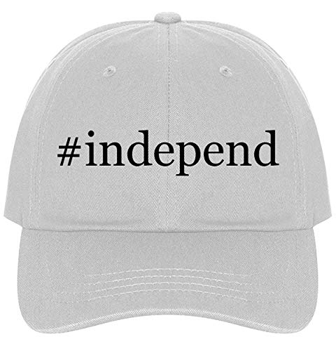 The Town Butler #Independ - A Nice Comfortable Adjustable Hashtag Dad Hat Cap, White