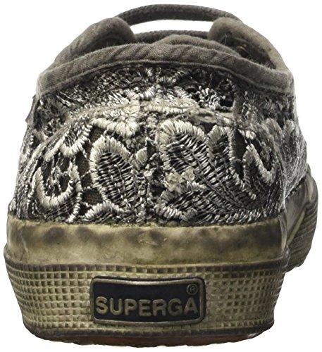 Superga 2750-Macramedyedw, Zapatillas de Deporte para Mujer Negro