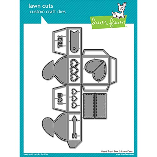 (Lawn Fawn Lawn Cuts Custom Craft Die - LF1825 Heart Treat Box)