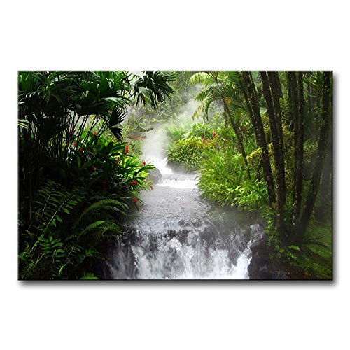 So Crazy Art Wall Art Painting Waterfall In The Jungle Prints On Canvas The Picture Landscape Pictures Oil For Home Modern Decoration Print Decor For Bedroom
