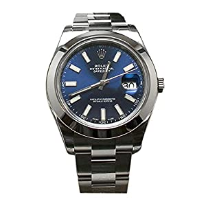 Best Epic Trends 51dnwhWFUUL._SS300_ Rolex Datejust II 41 Blue Dial Index Dial Steel Mens Watch 116300