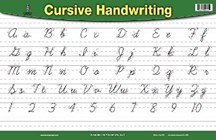 Amazon.com: Handwriting Placemat Cursive & Manuscript: Home & Kitchen