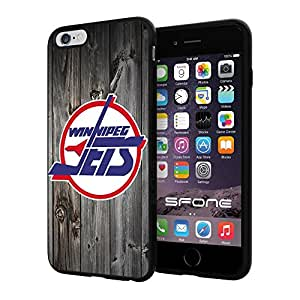 "Winnipeg Jets Black Wood #1648 iPhone 6 Plus (5.5"") I6+ Case Protection Scratch Proof Soft Case Cover Protector by runtopwell"