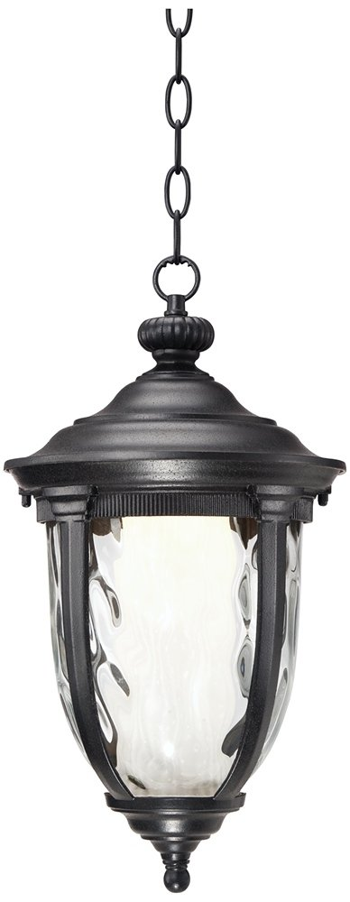 Bellagio 18'' High LED Black Outdoor Hanging Light by John Timberland