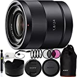 Sony Carl Zeiss Sonnar T E 24mm F1.8 ZA Lens 10PC Accessory Kit. Includes 3PC Filter Kit (UV-CPL-FLD) + 4PC Macro Filter Set (+1,+2,+4,+10) + Lens Pen + Cap Keeper + Microfiber Cleaning Cloth