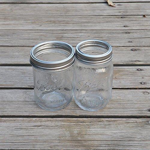 Regular Mouth Mason jar Rings Bands Sainless Steel 12 Pack (Jar Not Include)