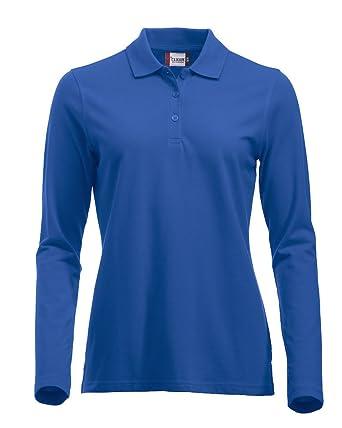 8efb12977b8f Lang auml rmliges, klassisches Polo-Shirt f uuml r Damen, Baumwolle, moderne