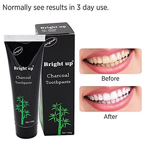 Dental Expert Activated Charcoal Teeth Whitening Toothpaste - Mint Flavor Bad Breath Coffee Organic Coffee Teeth Whitening (100g/ 3.5 Oz)