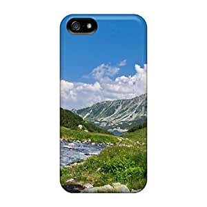 Iphone 5/5s Case Cover - Slim Fit Tpu Protector Shock Absorbent Case (a Stream In The Valley)