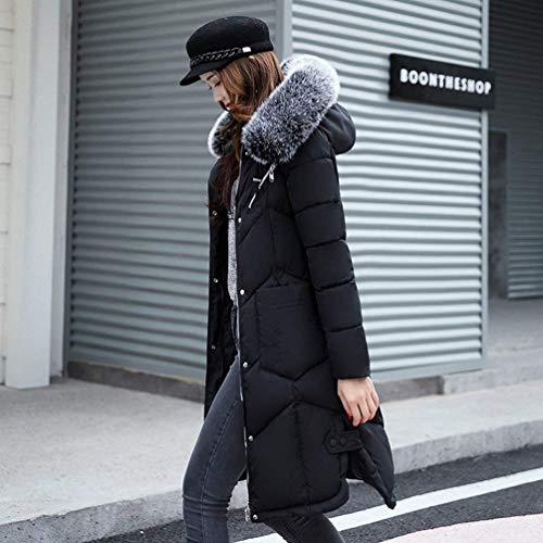 Haute Capuchon Doudoune avec Warm De Fourrure Femme Manteau Oversize Qualit Parker Hiver 0CqFCvR