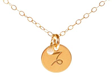 pendant capricorn zodiac gold yellow
