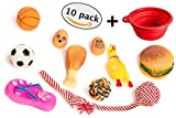 Dog Puppy Teething Toys | Chew, Squeaky, Rope, Rubber Toys for Small, Medium