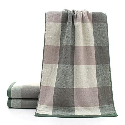 mmynl toallas de algodón puro de gasa adultos transpirable Tejido de rizo toallas de money-