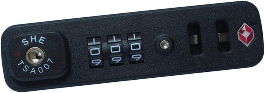 Almencla Equipaje Maleta TSA Lock, Bloqueo De Aduanas De 3 Dígitos, Combinación De Contraseña De Números, Montaje Con Tornillo - TSA007