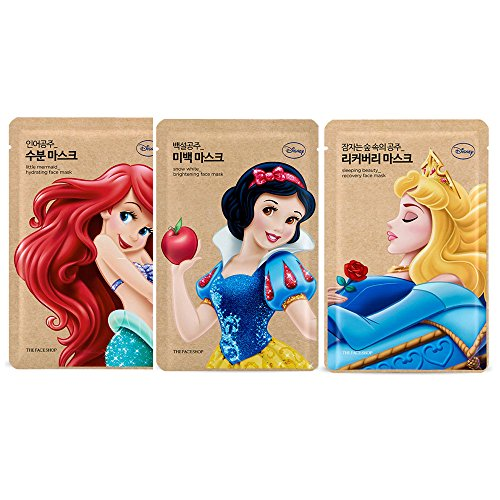 the-face-shop-disney-face-mask-set-little-mermaid-snow-white-sleeping-beauty-201612new