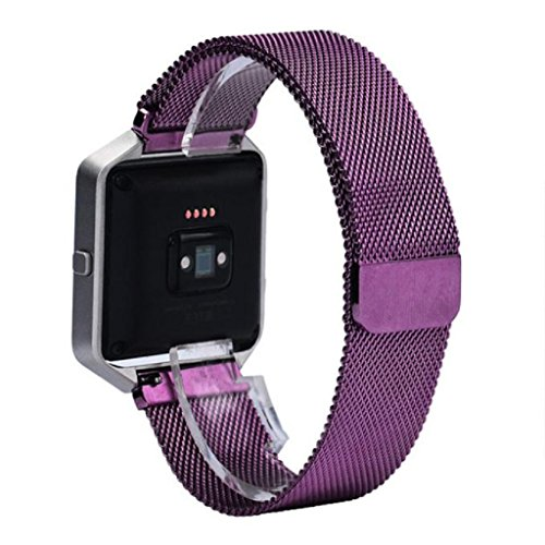 Fitbit Blaze Strap, OverDose Milanese Stainless Steel Adjustable Replacement Accessory Straps for Fitbit Blaze