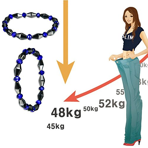 Weight Loss Black Stone Magnetic Therapy Bracelet Health Care Biomagnetism by AlexGT (Image #3)