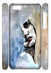 Ray Domnic Watercolor Hard Case Cover Back Skin Protector For Iphone 5C