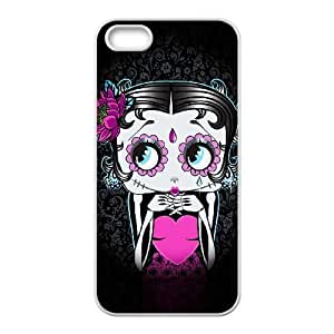 Generic for iPhone 5 5s Cell Phone Case White Betty Boop Custom HFGLJSGLF8890