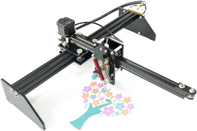 TOPQSC Metal Drawing Robot Kit Schriftsteller XY Plotter Handschreibroboter Kit Auto-Zeichnungs-Schreibens-Roboter-Stift-Plotter-Unterschriftenmaschine X Y-Achse: Amazon.es: Bricolaje y herramientas