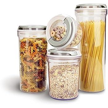 Amazoncom Elemental Kitchen Round Airtight Food Storage Container
