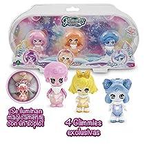 Glimmies Polaris - Pack 3 Muñecas Coleccionables Glimmies Con Luz